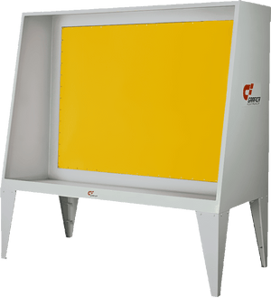 High Quality Stainless Steel Screen Washing Booth with Yellow Backlight - graficaindiaonline