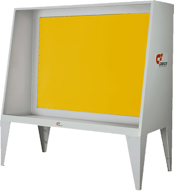 High Quality Stainless Steel Screen Washing Booth with Yellow Backlight
