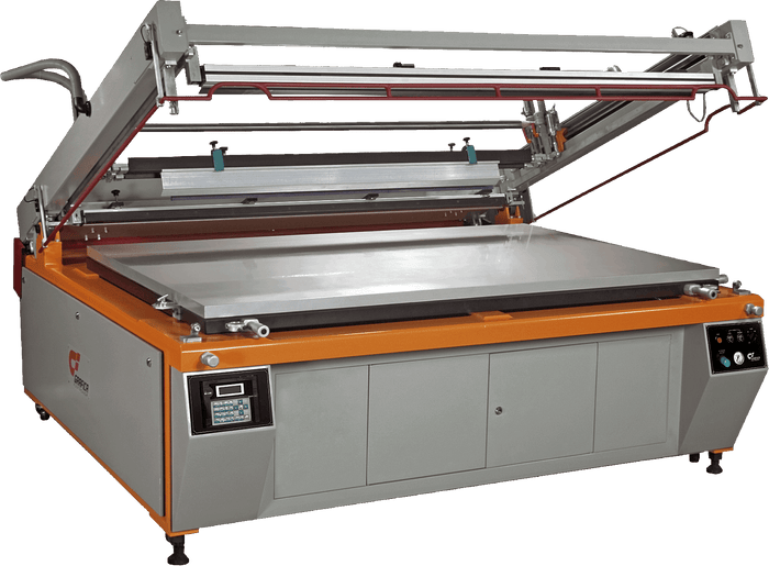 Cam-Shell Semi Automatic Flat-Bed Screen Printing Machine