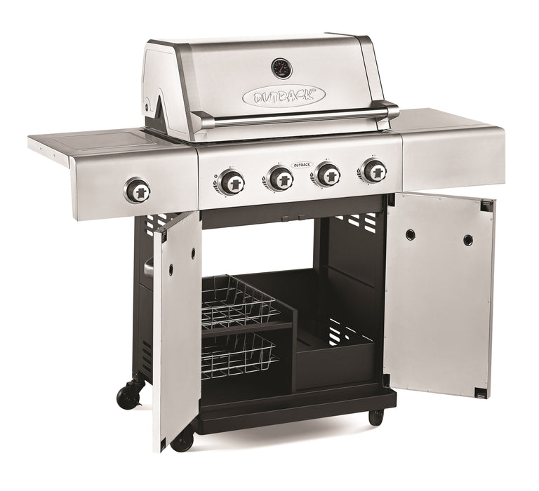 Jupiter Hybrid 4 Burner Stainless Steel