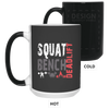 Drinkware Black / One Size Squat Bench Deadlift Color Changing Mug