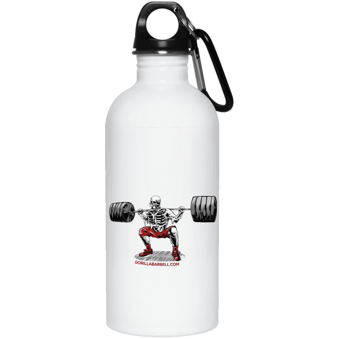 Drinkware White / One Size Dead Man's Squat Water Bottle