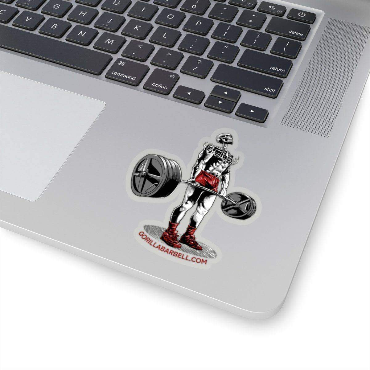 "Paper products 4x4"" / Transparent Dead Man's Lift Sticker"