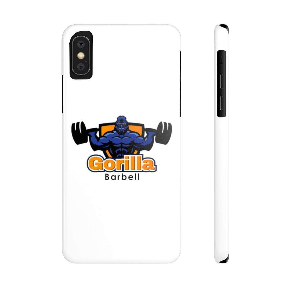 Phone Case iPhone XS Gorilla Barbell Phone Case
