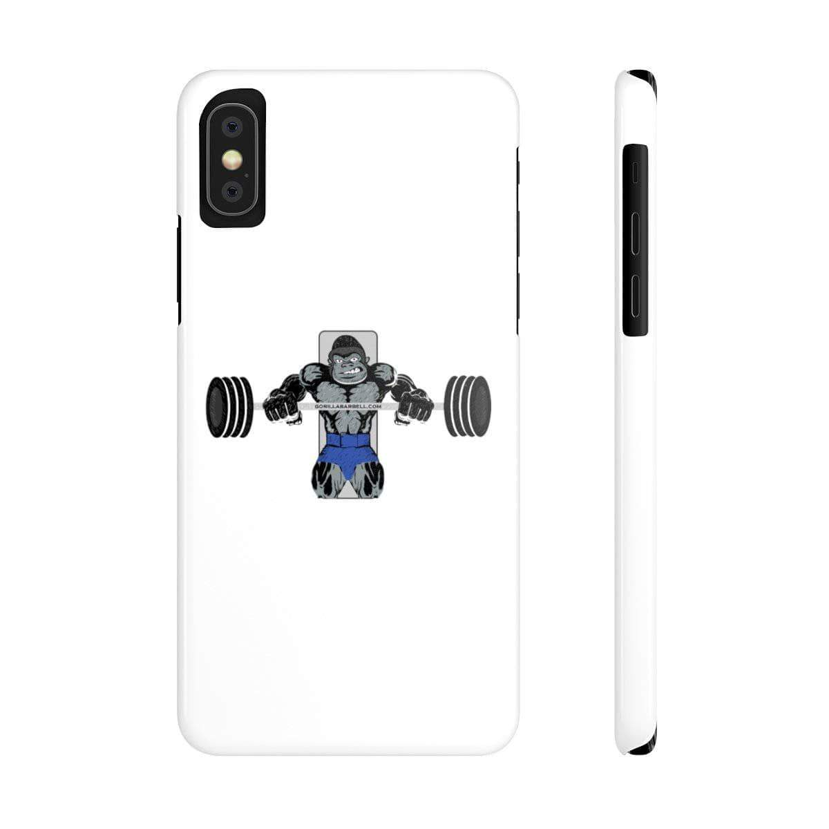 Phone Case iPhone XS Gorilla Bench Phone Case