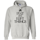 "Sweatshirts Ash / S ""I Eat And I Lift Things"" Hoodie"