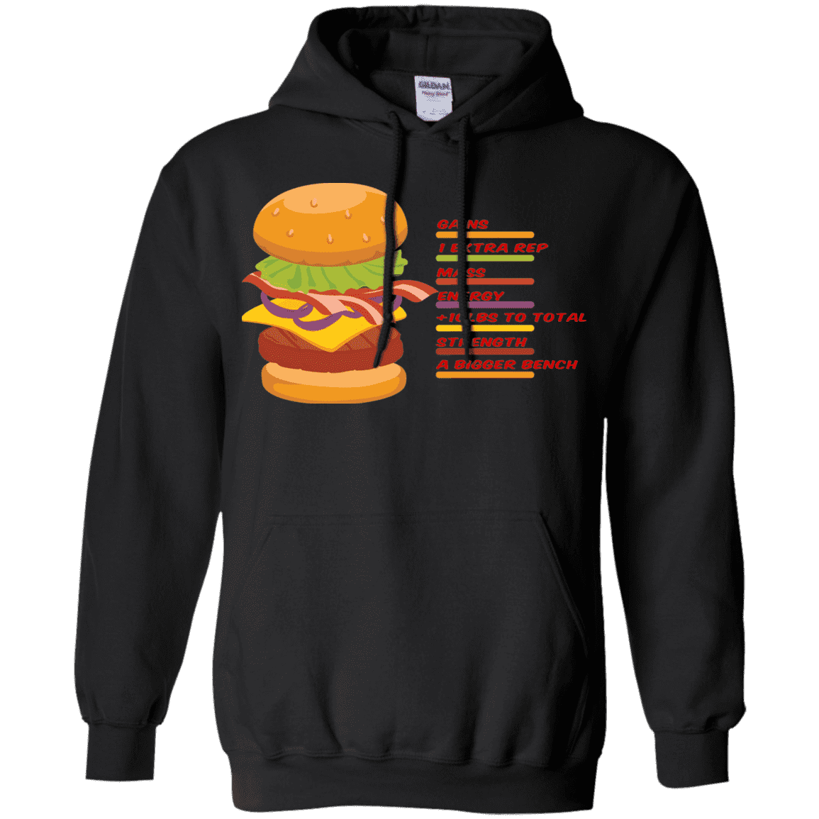 Sweatshirts Black / S Anatomy Of A Burger Hoodie
