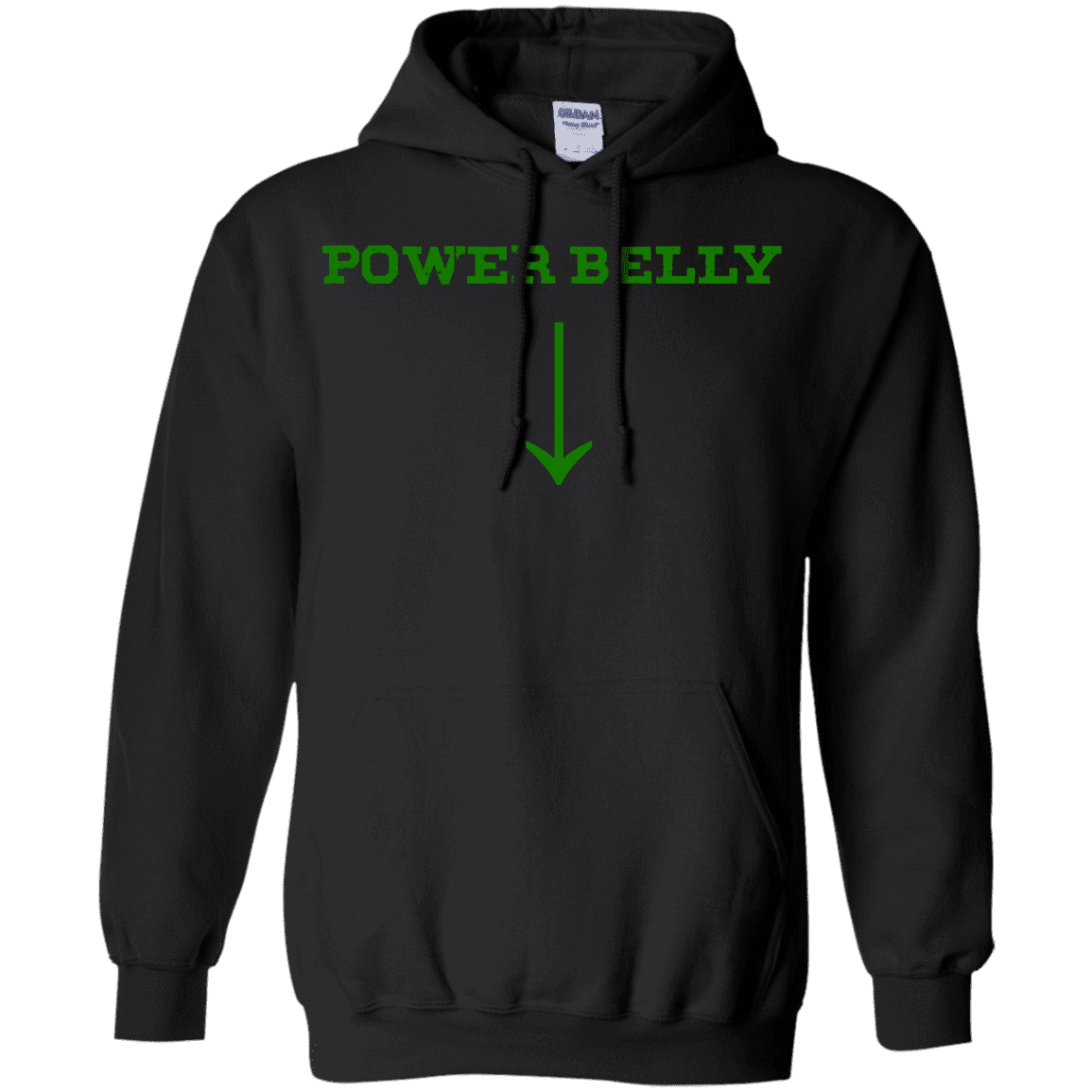 Sweatshirts Black / S Power Belly Hoodie