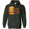 Sweatshirts Forest Green / S Anatomy Of A Burger Hoodie