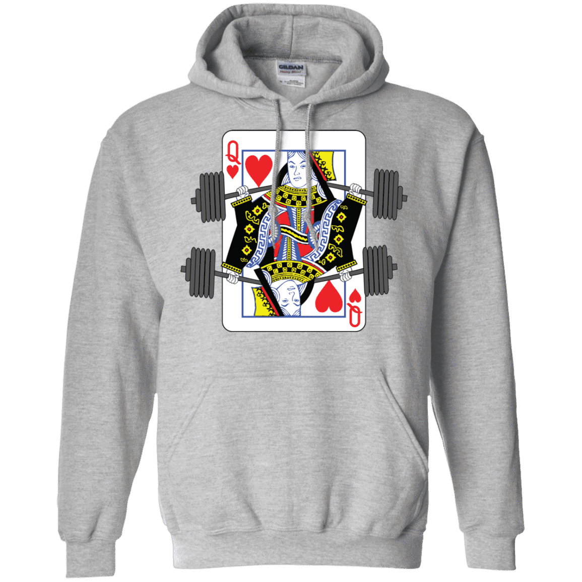 Sweatshirts Grey / S Queen Of Squats Hoodie