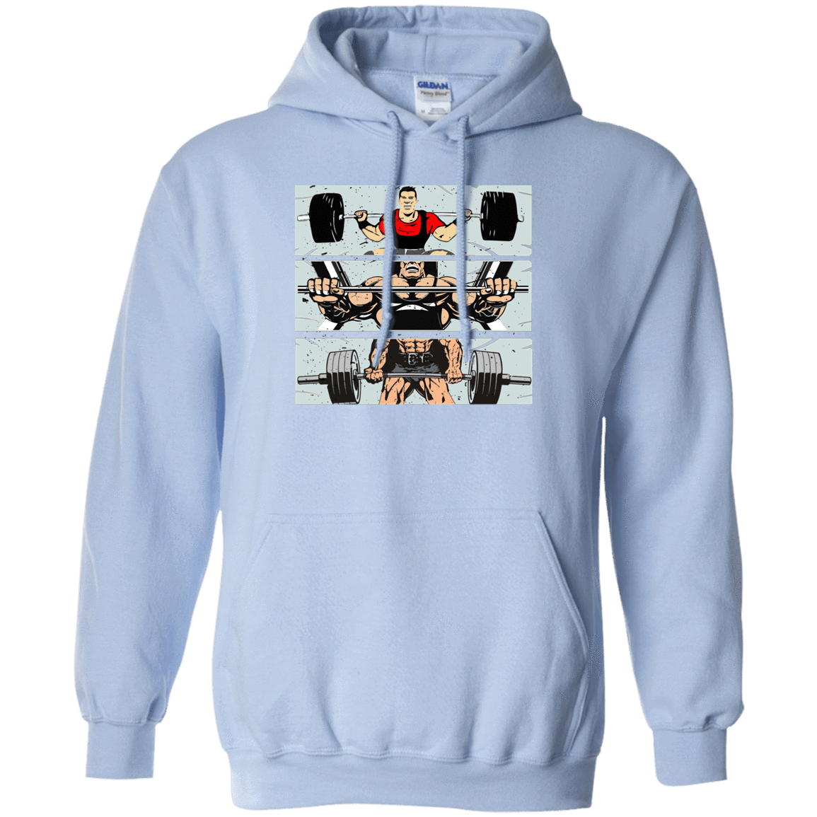 Sweatshirts Light Blue / S Big Three Hoodie