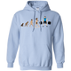 Sweatshirts Light Blue / S Evolution (Color) Hoodie