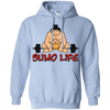 Sweatshirts Light Blue / S Sumo Life Hoodie