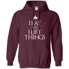 "Sweatshirts Maroon / S ""I Eat And I Lift Things"" Hoodie"