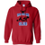 Sweatshirts Red / S 1,000 Pound Club Hoodie