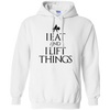 "Sweatshirts White / S ""I Eat And I Lift Things"" Hoodie"
