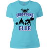 T-Shirts Aqua / X-Small 1,000 Pound Club Women's XC Tee