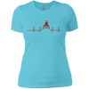 T-Shirts Aqua / X-Small Heartbeat Women's XC Tee