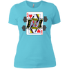 T-Shirts Aqua / X-Small Queen Of Squats Women's XC Tee