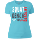 T-Shirts Aqua / X-Small Squat Bench Deadlift Women's XC Tee