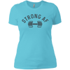 T-Shirts Aqua / X-Small Strong AF Women's XC Tee