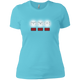 T-Shirts Aqua / X-Small White Lights Women's XC Tee