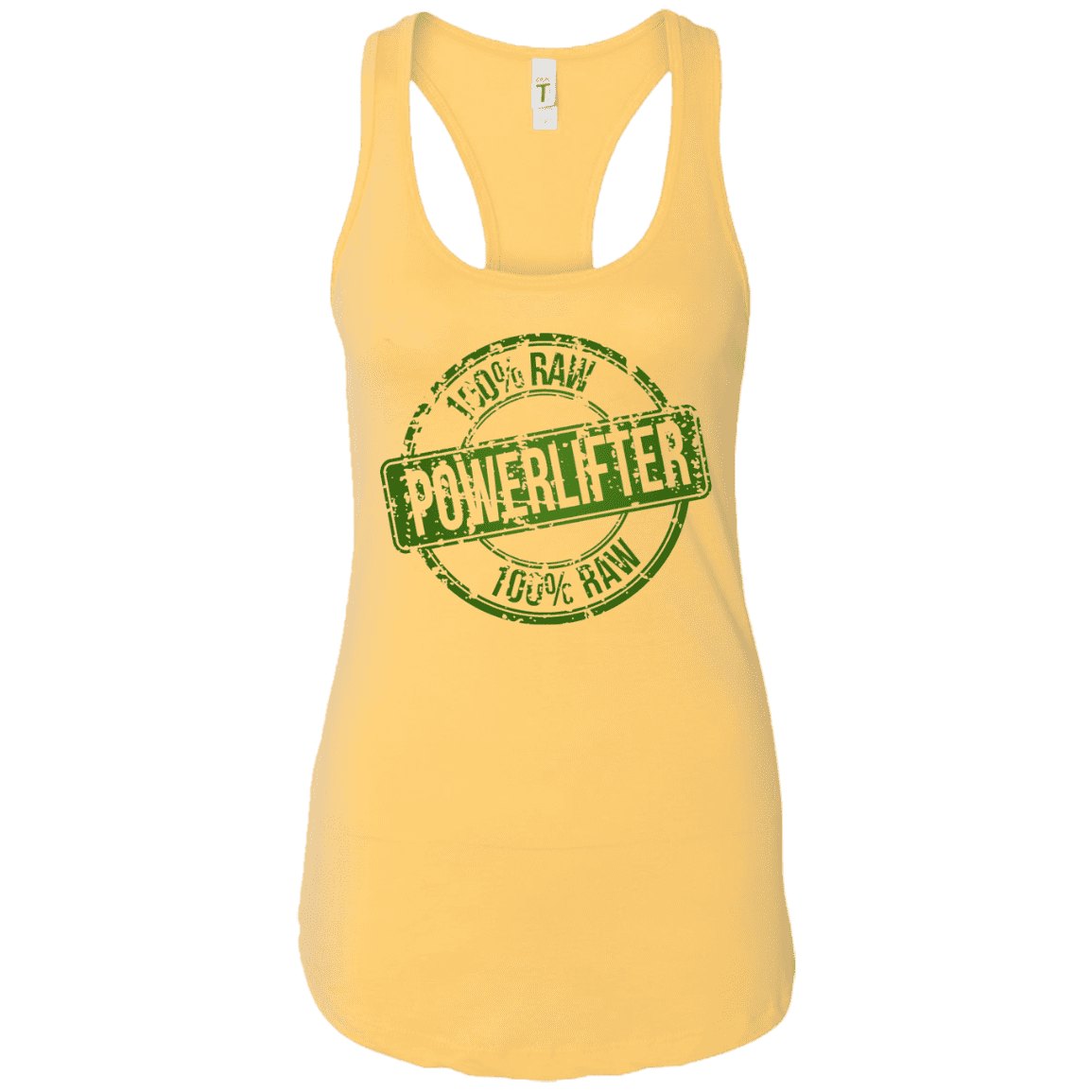 T-Shirts Banana Cream / X-Small 100% Raw Racerback Tank