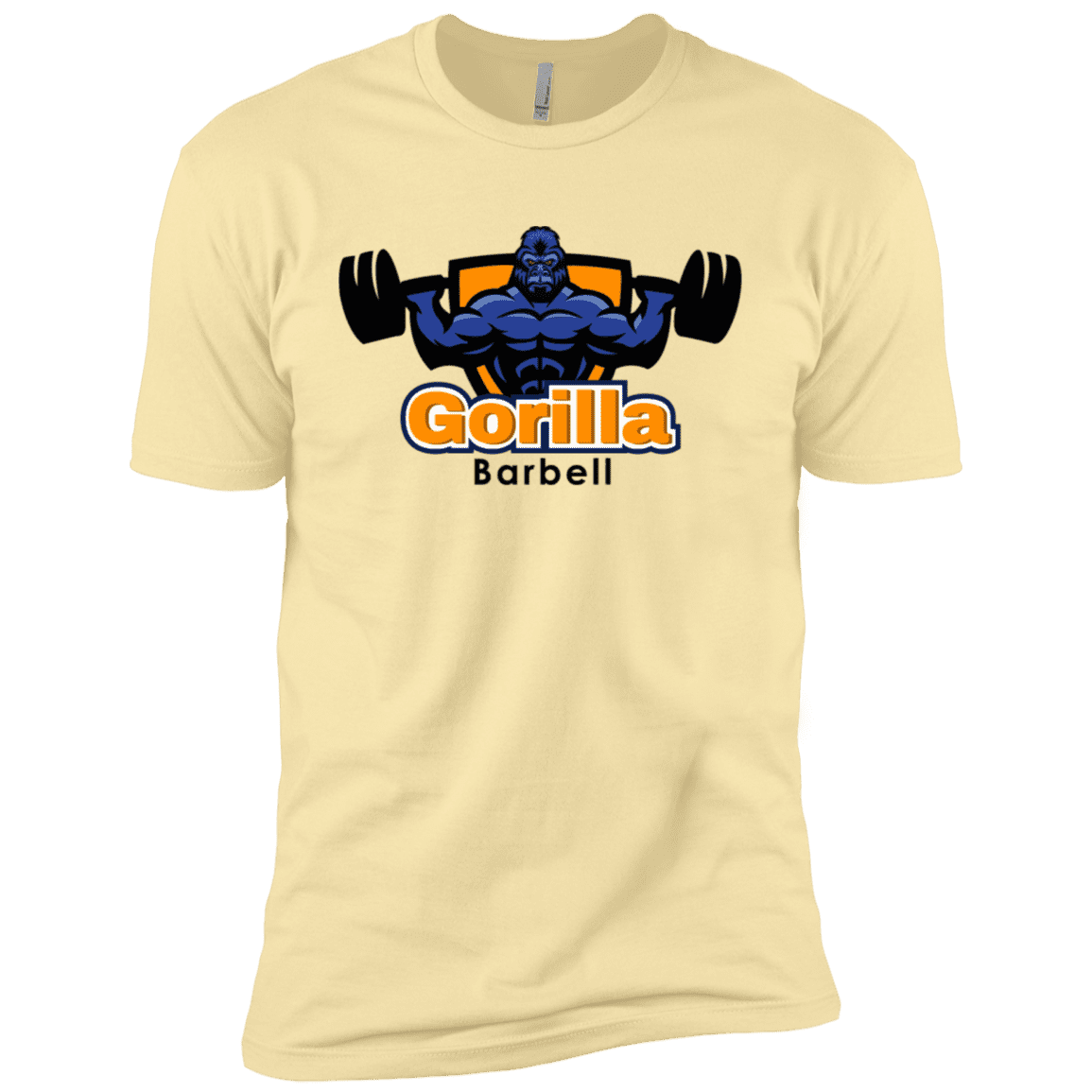T-Shirts Banana Cream / X-Small Gorilla Barbell1 XC Tee