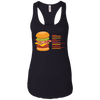 T-Shirts Black / X-Small Anatomy Of A Burger Racerback Tank