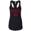 T-Shirts Black / X-Small Deadlifts And Chill Racerback Tank