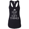 "T-Shirts Black / X-Small ""I Eat And I Lift Things"" Women's Racerback Tank"