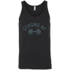 Strong AF Tank Top T-Shirts CustomCat Black X-Small