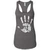 T-Shirts Dark Grey / X-Small Chalk Up! Racerback Tank
