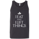 "T-Shirts Dark Grey / X-Small ""I Eat And I Lift Things"" Tank Top"