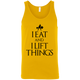 "T-Shirts Gold / X-Small ""I Eat And I Lift Things"" Tank Top"