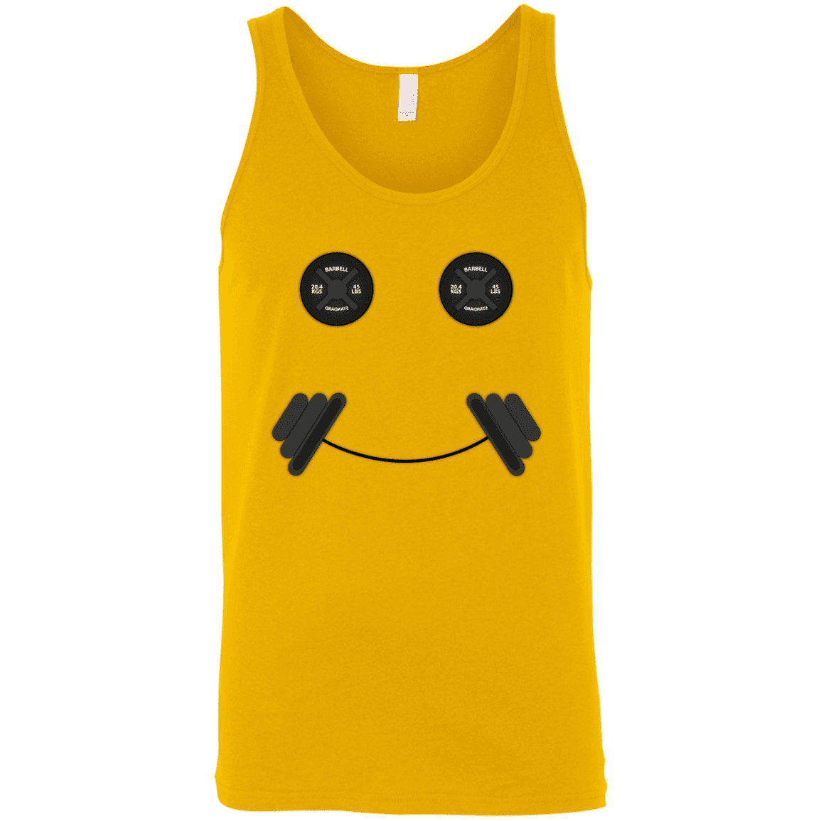 T-Shirts Gold / X-Small Iron Smiley Tank Top