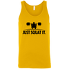 T-Shirts Gold / X-Small Just Squat It. Tank Top