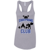 T-Shirts Heather Grey / X-Small 1,000 Pound Club Racerback Tank
