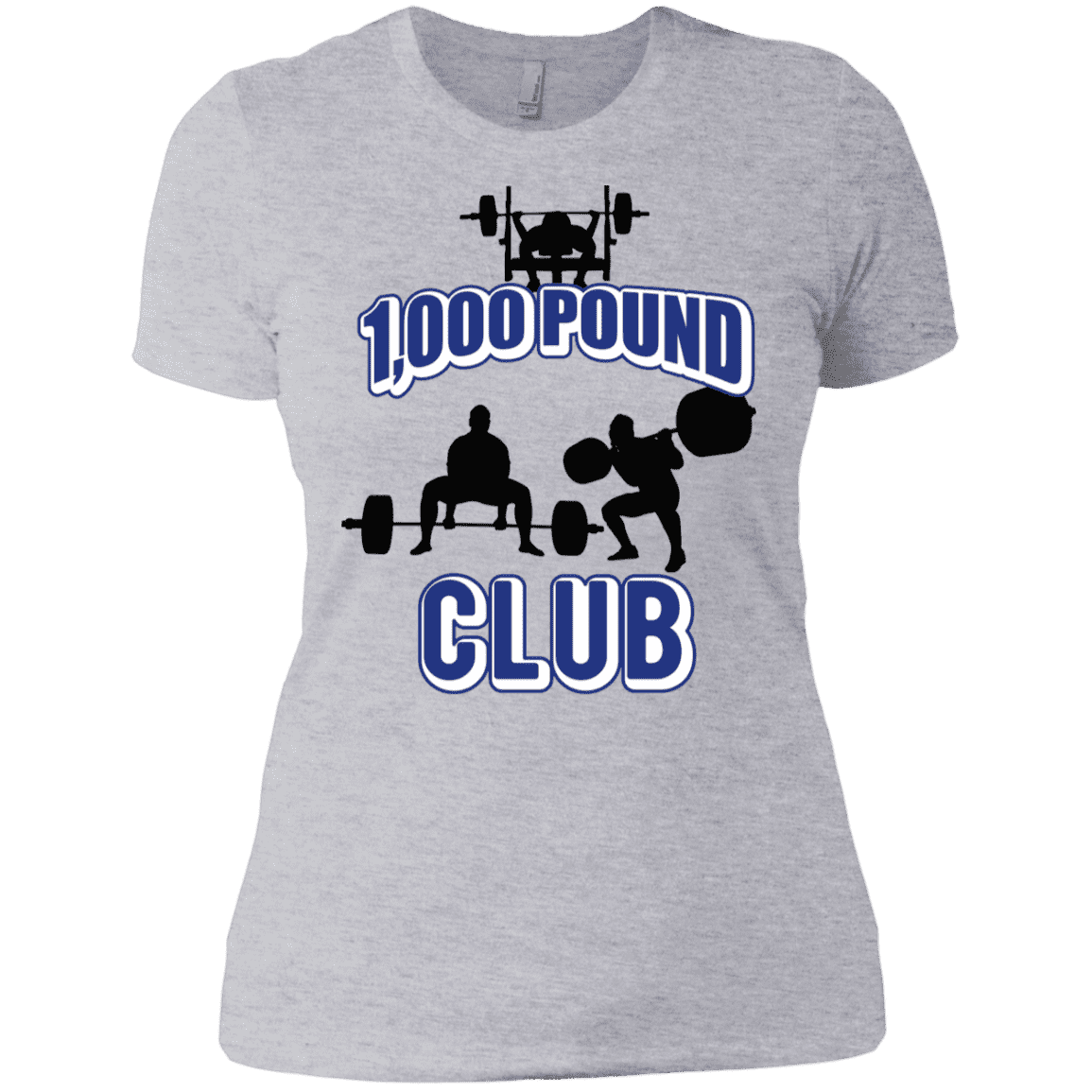 T-Shirts Heather Grey / X-Small 1,000 Pound Club Women's XC Tee