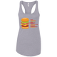 T-Shirts Heather Grey / X-Small Anatomy Of A Burger Racerback Tank