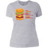 T-Shirts Heather Grey / X-Small Anatomy Of A Burger Women's XC Tee