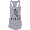 "T-Shirts Heather Grey / X-Small ""I Eat And I Lift Things"" Women's Racerback Tank"