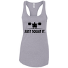 T-Shirts Heather Grey / X-Small Just Squat It. Racerback Tank