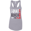 T-Shirts Heather Grey / X-Small Squat Bench Deadlift Racerback Tank