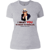 T-Shirts Heather Grey / X-Small Uncle Sam Women's Extra Comfort Tee