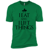 "T-Shirts Kelly Green / X-Small ""I Eat And I Lift Things"" Men's Extra Comfort Tee"