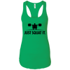 T-Shirts Kelly Green / X-Small Just Squat It. Racerback Tank