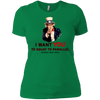 T-Shirts Kelly Green / X-Small Uncle Sam Women's Extra Comfort Tee