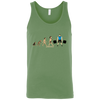 T-Shirts Leaf Green / X-Small Evolution (Colored) Tank Top