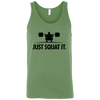 T-Shirts Leaf Green / X-Small Just Squat It. Tank Top